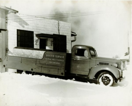 One of the original Baxter-Turner trucks on Warwick Ave.
